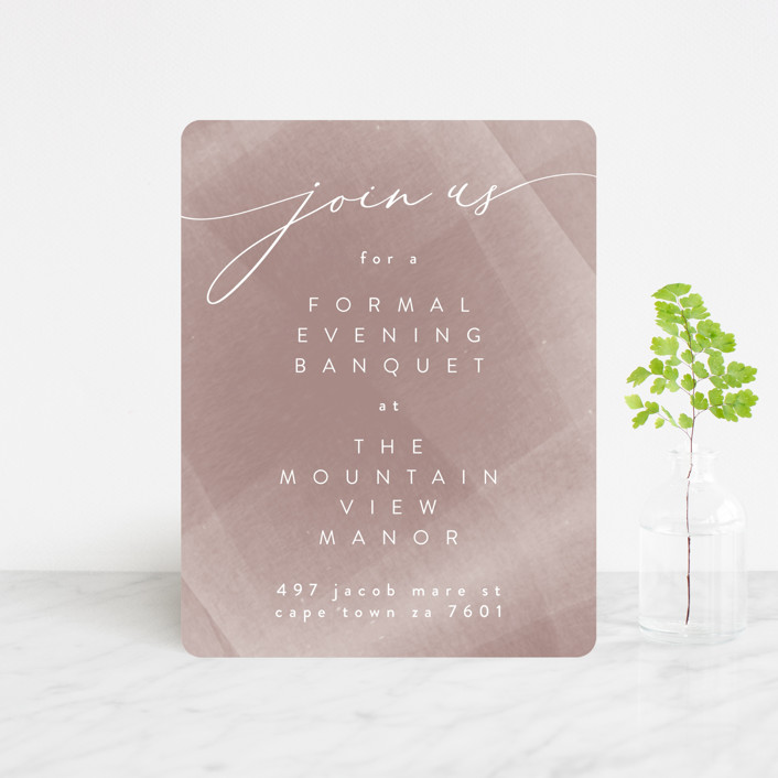 """""""plain paint"""" - Modern Reception Cards in Taupe by Phrosne Ras."""