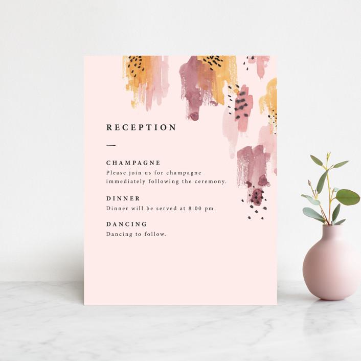 """""""Mod Brush"""" - Modern Reception Cards in Blush by Lisa Fee Paura."""