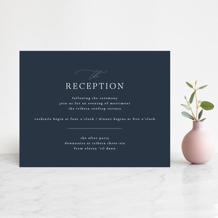 """Waltz"" - Reception Cards in Nightfall by Jula Paper Co.."