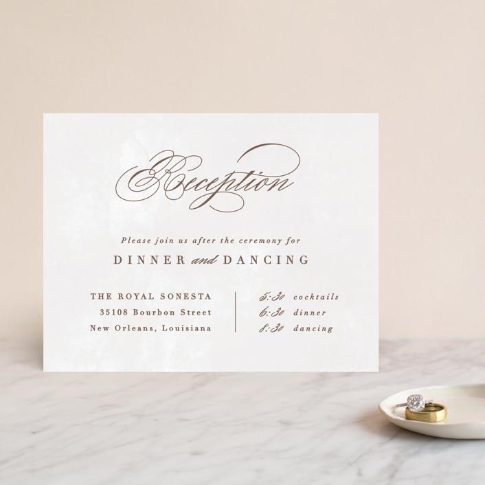 """Sonesta"" - Reception Cards in Mineral by Hooray Creative."