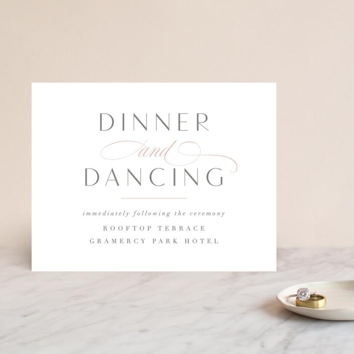 """Gramercy"" - Reception Cards in Blush by Kristie Kern."