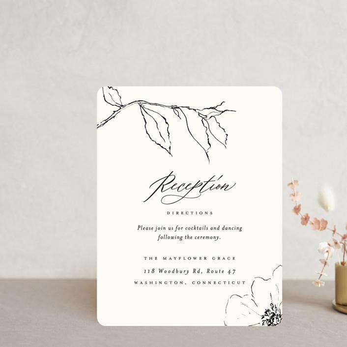 """Elysium"" - Reception Cards in Linen by Design Lotus."
