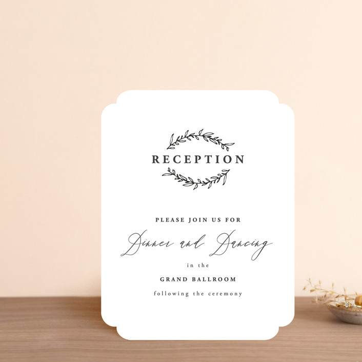 """""""Antoinette"""" - Reception Cards in Ivory by lulu and isabelle."""