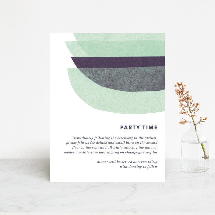 """""""tissue union"""" - Modern Reception Cards in Cucumber by Carrie Moradi."""
