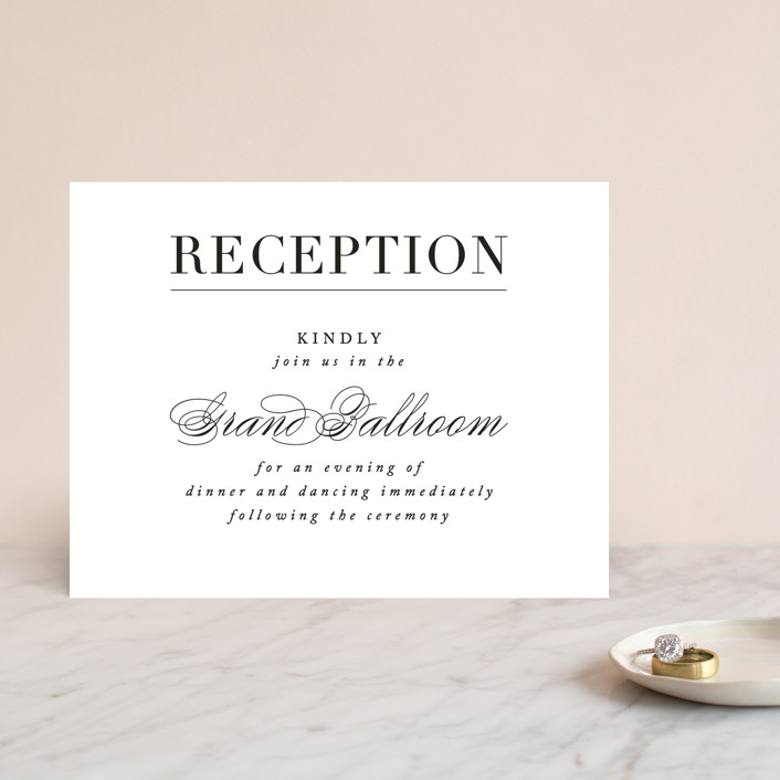 """Typography"" - Reception Cards in Pearl by lena barakat."