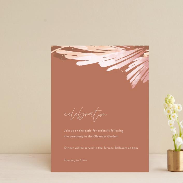 """lush romance"" - Bohemian Reception Cards in Palm by Robin Ott."
