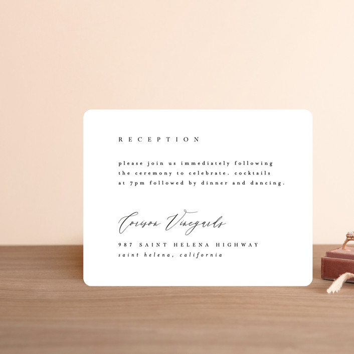 """""""Corison"""" - Reception Cards in Classic by Kelly Schmidt."""