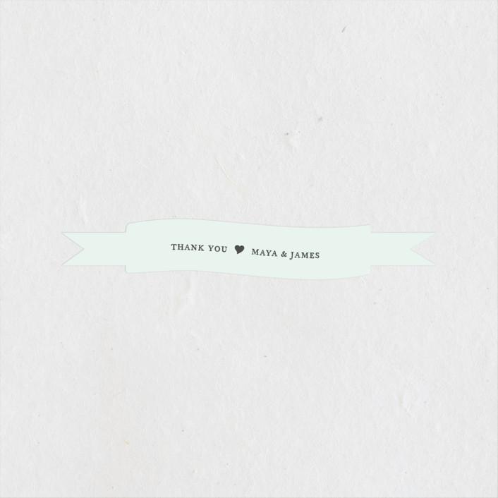"""Prime"" - Rehearsal Dinner Favor Stickers in Mint by Jennifer Postorino."
