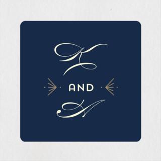Gatsby Frame Rehearsal Dinner Favor Stickers