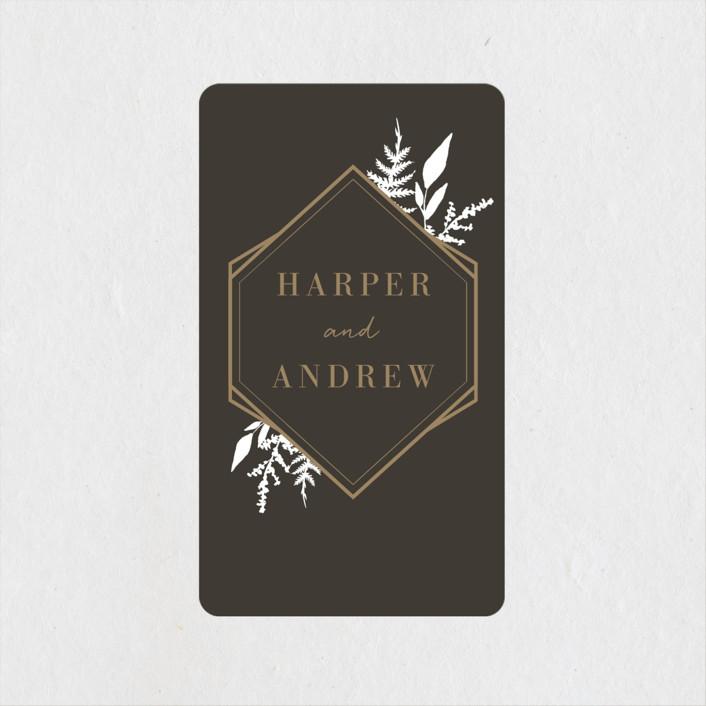 """Shade Garden"" - Rehearsal Dinner Favor Stickers in Ink by Robin Ott."