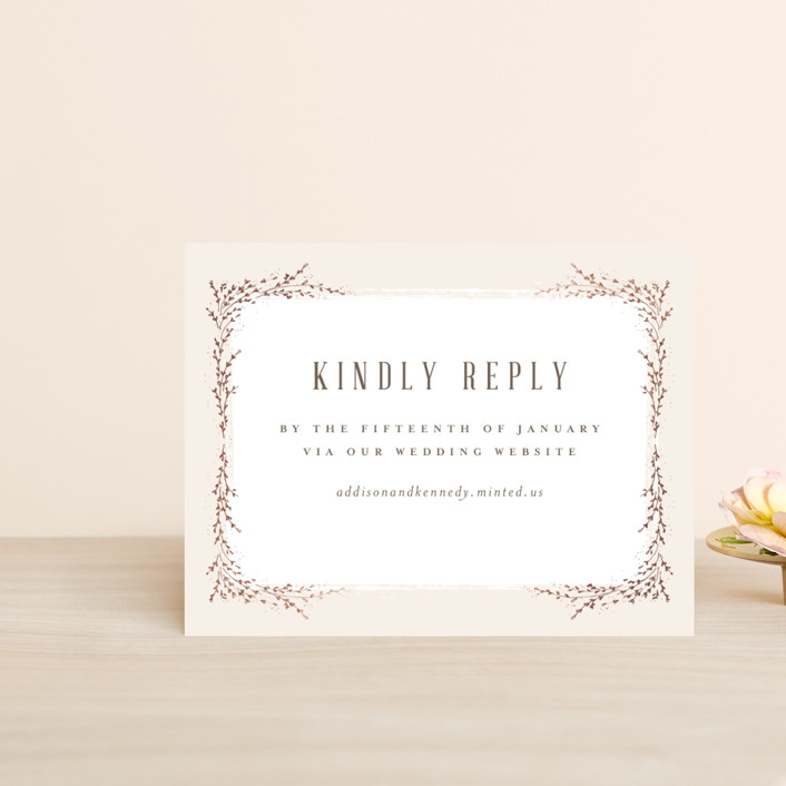"""""""positano"""" - Foil-pressed Rsvp Online Enclosure Cards in Champagne by chocomocacino."""