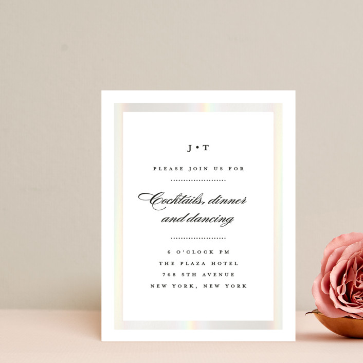 """Lasting love"" - Gloss-press™ Reception Card in Moonstone by Stacey Meacham."