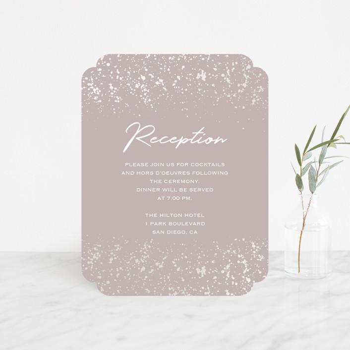 """""""Paint Splash"""" - Modern Gloss-press™ Reception Card in Nude by Juliana Zimmermann."""