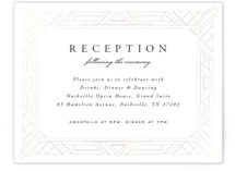 This is a white tbd by Hooray Creative called Opulent Border with gloss-press printing on signature in standard.
