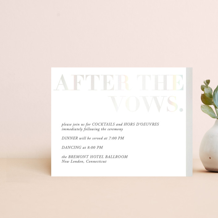 """Basically"" - Gloss-press™ Reception Card in Cloud by 2birdstone."