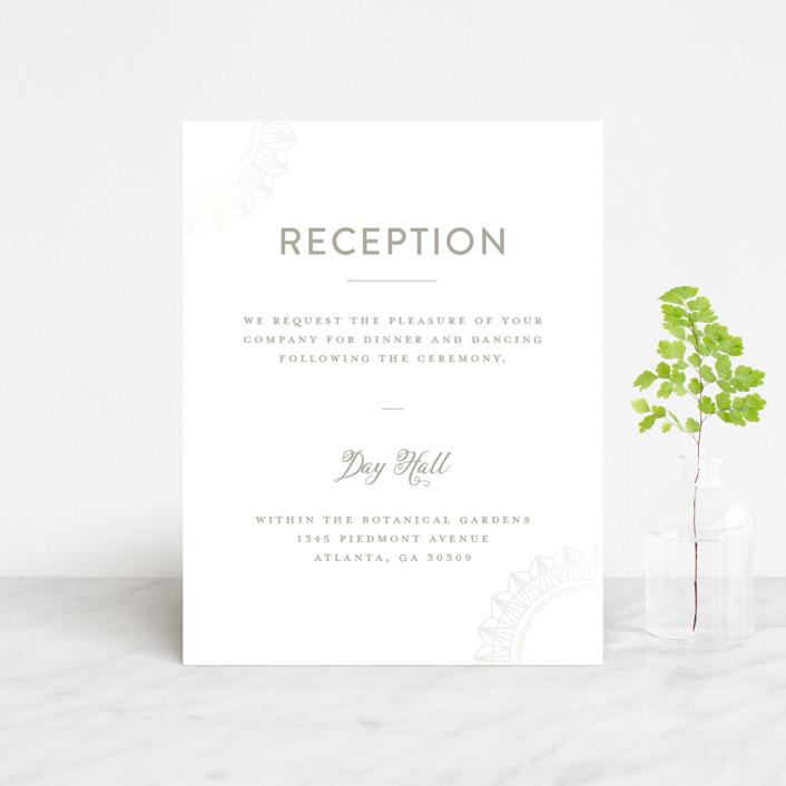 """mandala"" - Gloss-press™ Reception Card in Porcelain by Char-Lynn Griffiths."