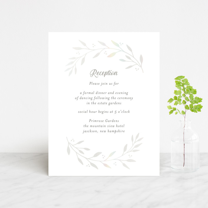 """Vineyard"" - Vintage Gloss-press™ Reception Card in Lace by Tennie and Co.."