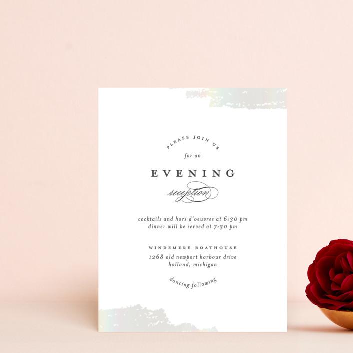 """Gala"" - Vintage Gloss-press® Reception Card in Opal by Ashley DeMeyere."