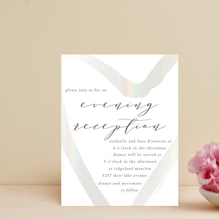 """love heart"" - Gloss-press™ Reception Card in Cloudy by Alexandra Dzh."