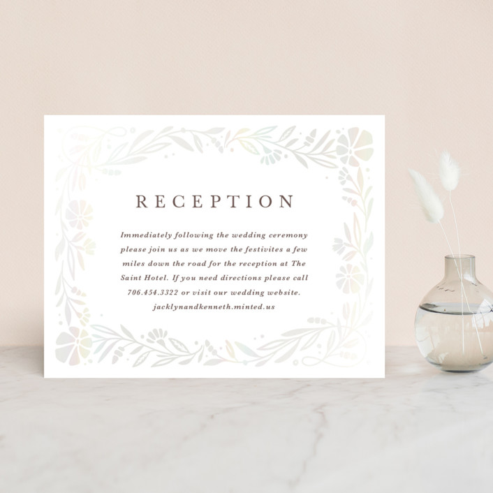 """Jasmine"" - Gloss-press™ Reception Card in Shimmer by Kristen Smith."