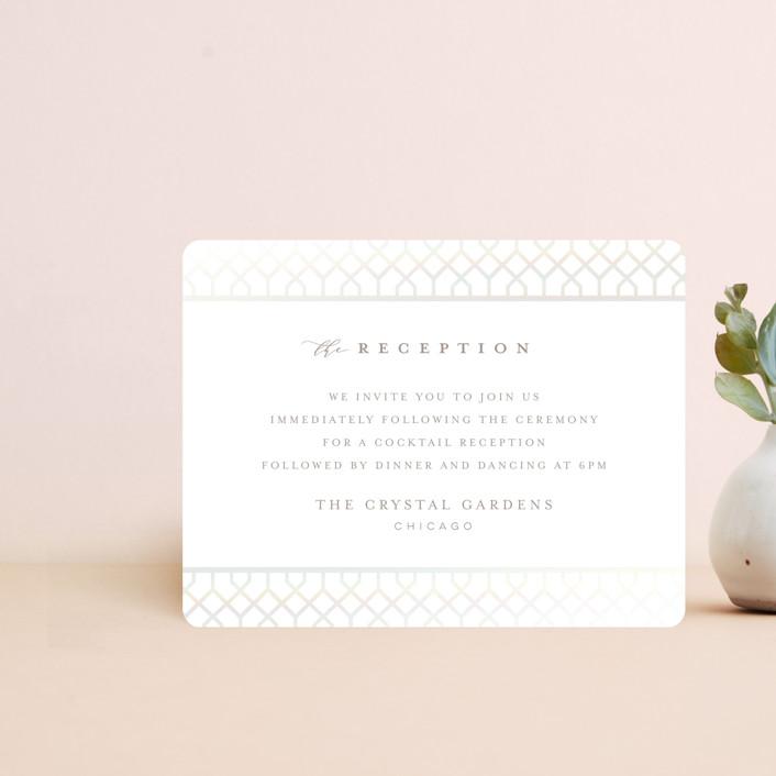 """""""trellis"""" - Gloss-press® Reception Card in Opal by Melanie Kosuge."""