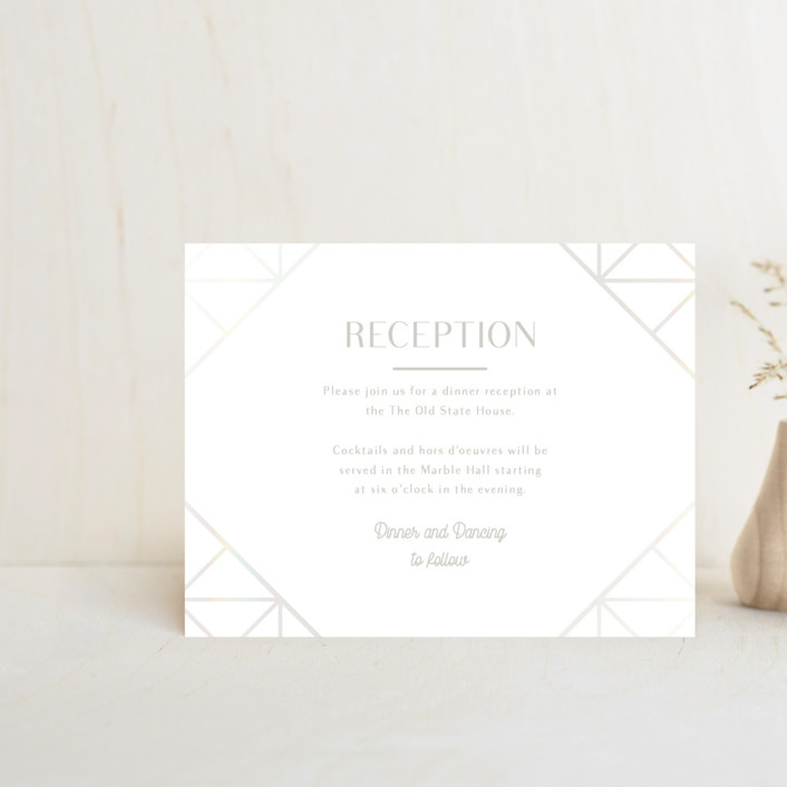 """Brilliant Cut"" - Vintage Gloss-press™ Reception Card in Diamond by Meggy Masters."