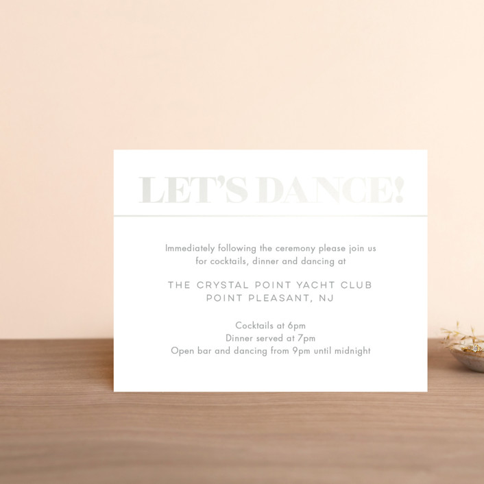"""Smash the Glass"" - Gloss-press™ Reception Card in Pearl by Laura Bolter Design."