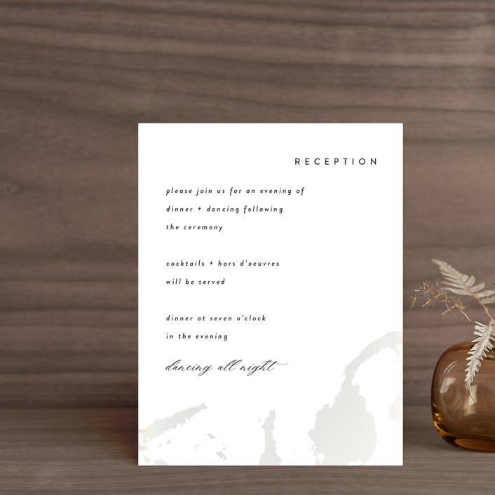 """Snowy Trails"" - Gloss-press™ Reception Card in Porcelain by Christie Garcia."