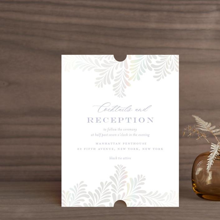 """Regal"" - Gloss-press™ Reception Card in Sky by Nicole Barreto."