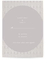 This is a grey rsvp card by kelli hall called Circlet with gloss-press printing on signature in standard.