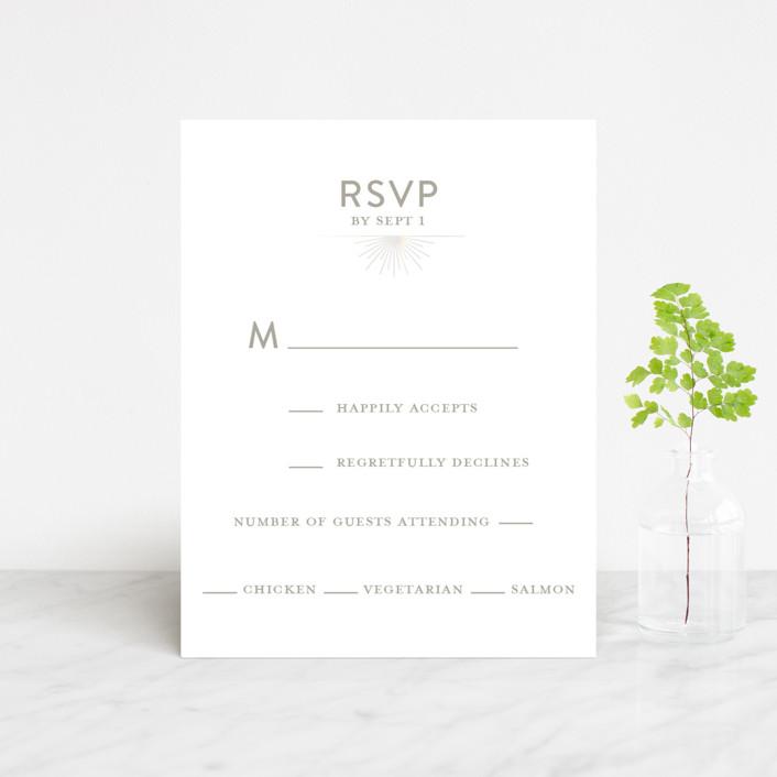 """mandala"" - Gloss-press® Rsvp Cards in Porcelain by Char-Lynn Griffiths."