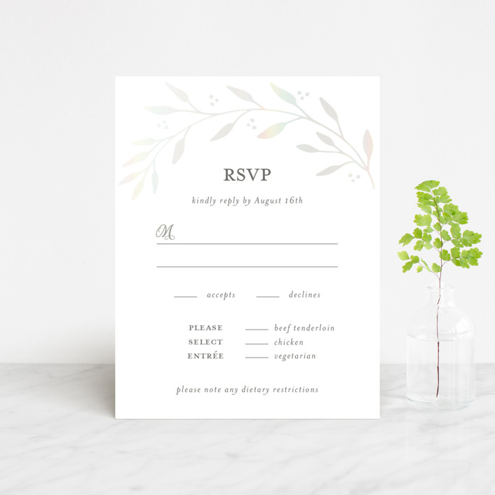 """""""Vineyard"""" - Vintage Gloss-press™ Rsvp Cards in Lace by Tennie and Co.."""