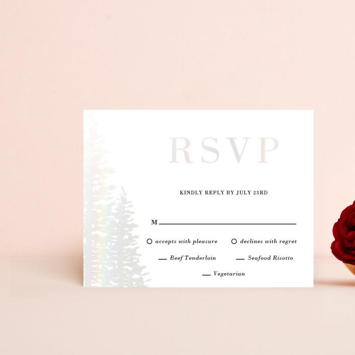 """Winter Dream"" - Gloss-press™ Rsvp Cards in Pearl by Oma N. Ramkhelawan."