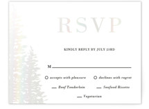 This is a white rsvp card by Oma N. Ramkhelawan called Winter Dream with gloss-press printing on signature in standard.