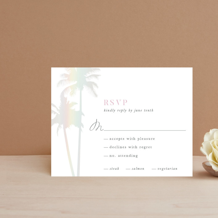 """Sunset by the Sea"" - Gloss-press™ Rsvp Cards in Ombre by lulu and isabelle."