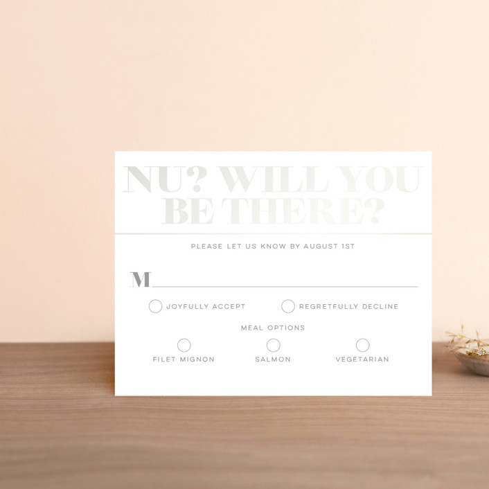 """Smash the Glass"" - Gloss-press™ Rsvp Cards in Fuschia by Laura Bolter Design."