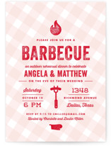 This is a pink rehearsal dinner invitation by Lauren Chism called Rehearsal BBQ with standard printing on signature in standard.