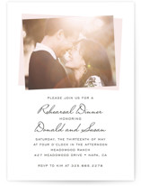 This is a pink rehearsal dinner invitation by SimpleTe Design called Romantic Frame with standard printing on signature in standard.