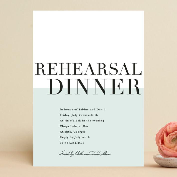 So Fresh Rehearsal Dinner Invitation