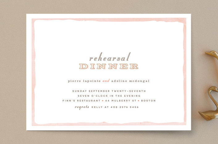 """""""Sweet Frame"""" - Modern, Whimsical & Funny Rehearsal Dinner Invitations in Coral by chocomocacino."""
