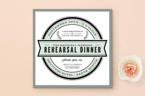 Classic Seal Rehearsal Dinner Invitations
