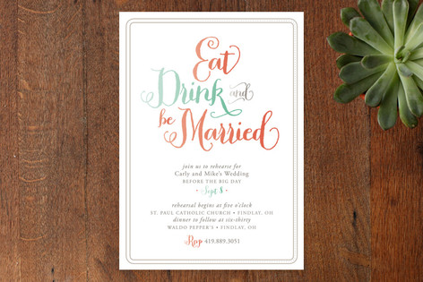 Be Married Rehearsal Dinner Invitations