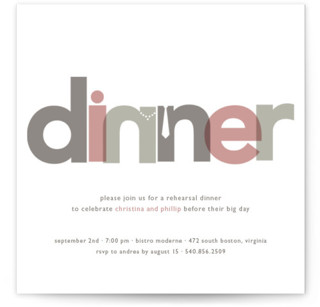 Dinner Party Rehearsal Dinner Invitations