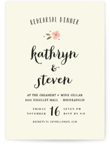 This is a pink rehearsal dinner invitation by Susan Brown called Beginning with standard printing on signature in standard.