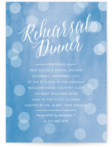 Watercolored Dots Rehearsal Dinner Invitations