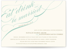 This is a blue rehearsal dinner invitation by Annie Clark called Winter Flourish with standard printing on signature in standard.