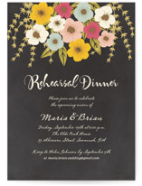 This is a beige rehearsal dinner invitation by Faith Harlow called Plentiful Blossoms with standard printing on signature in standard.