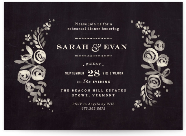 Sun Bleached Florals Rehearsal Dinner Invitations