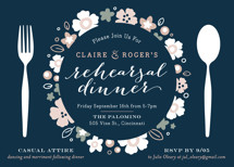 Pretty Plate Rehearsal Dinner Invitations By Carrie ONeal