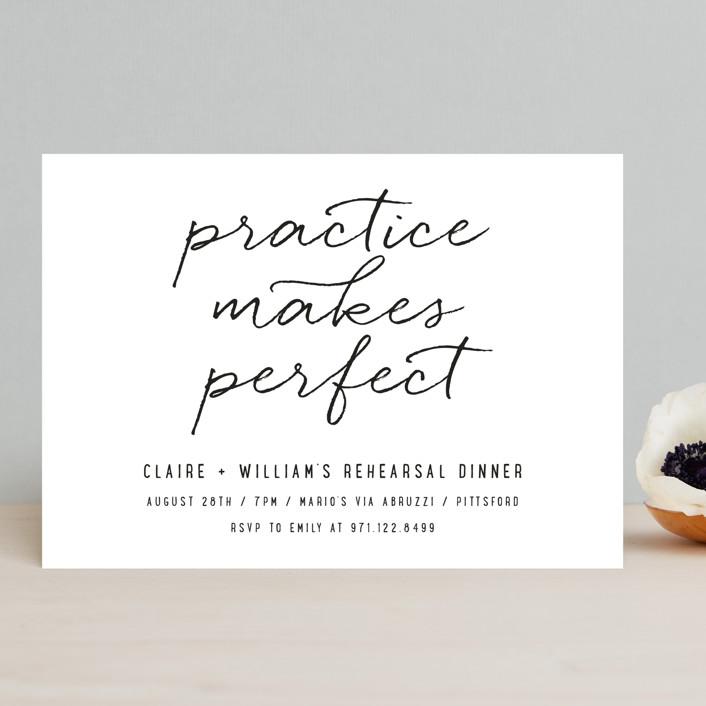 Perfect Practice Rehearsal Dinner Invitation
